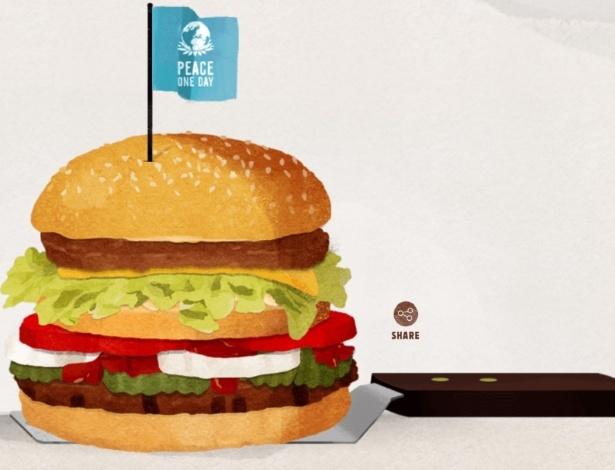 Ilustração em site criado pelo Burger King com a proposta para o McDonald's