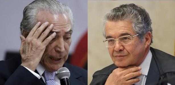 Temer (esq.) e Marco Aurélio Mello, alvos de pedidos de impeachment nesta semana - Reuters/SCO/STF
