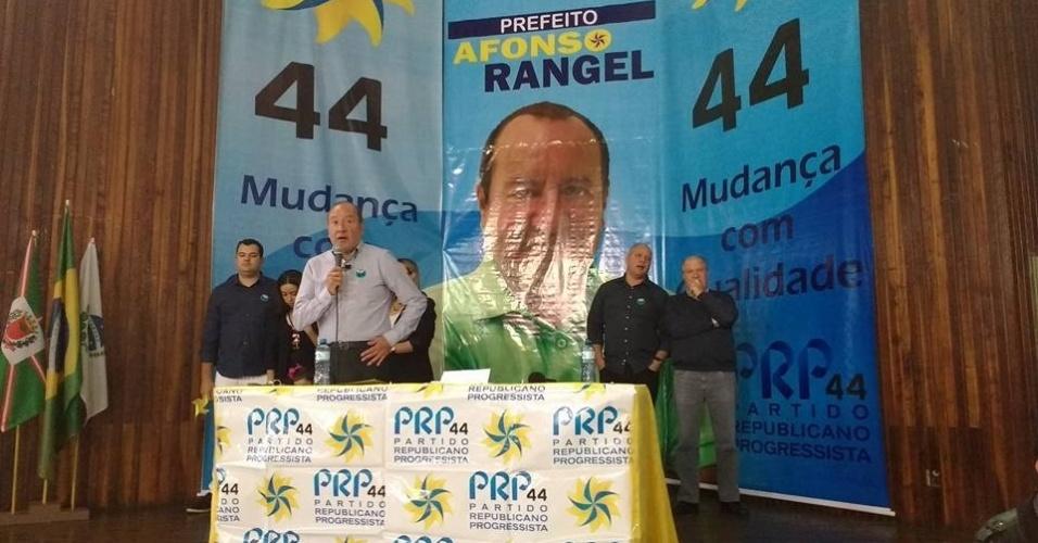 24.jul.2016 - O Partido Republicano Progressista (PRP) oficializou em convenção partidária a candidatura do empresário e Pró-Reitor da Universidade Tuiuti do Paraná Afonso Rangel à Prefeitura de Curitiba