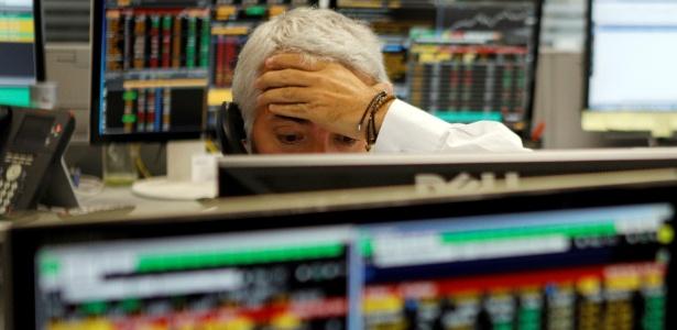 Operador de corretora em São Paulo na quinta-feira, dia em que a Bolsa despencou