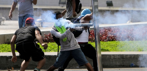 21.abr.2018 - Nicarágua tem dia de mortes e protestos contra reforma da previdência  - Inti Ocon/AFP