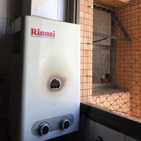 Aquecedor usado por família vítima de intoxicação por monóxido de carbono em Santo André (SP) - Arquivo pessoal