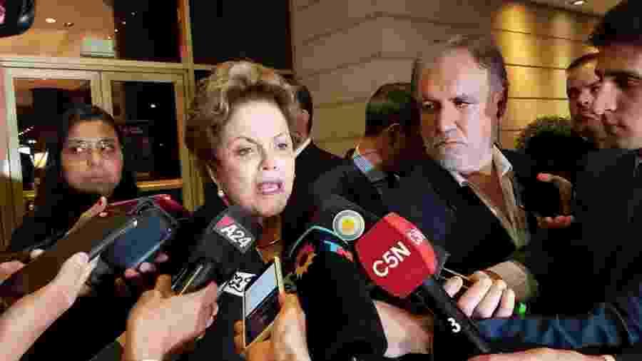 Dilma fala com imprensa argentina em Buenos Aires - Luciana Taddeo / Colaboração para o UOL