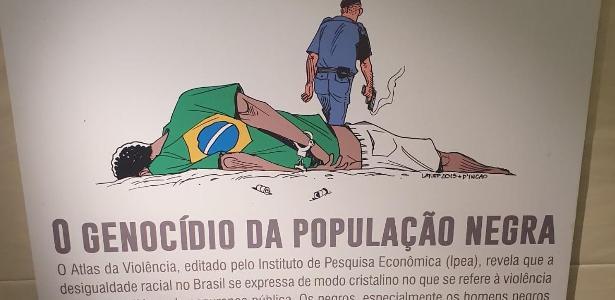 Coronel Tadeu   Deputado rasga placa sobre genocídio negro na Câmara