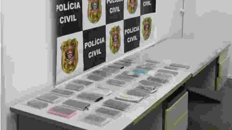 Polícia recupera 501 celulares roubados em SP e detém suspeitos na Paulista - divulgação/Polícia Civil