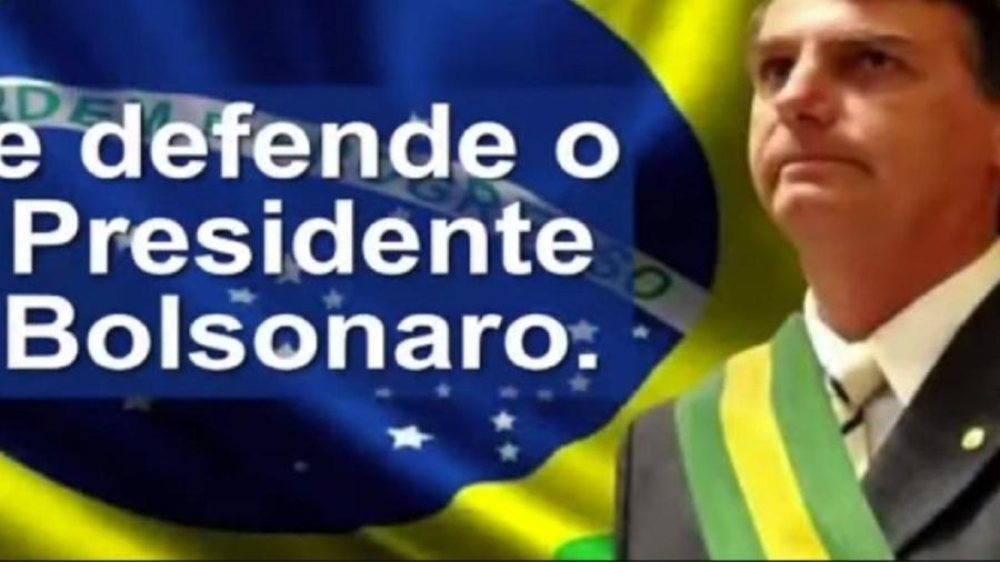 Frame de vídeo que Bolsonaro diz ser de 2015 refere-se a ele como... presidente da República. Em 2015??? - Reprodução