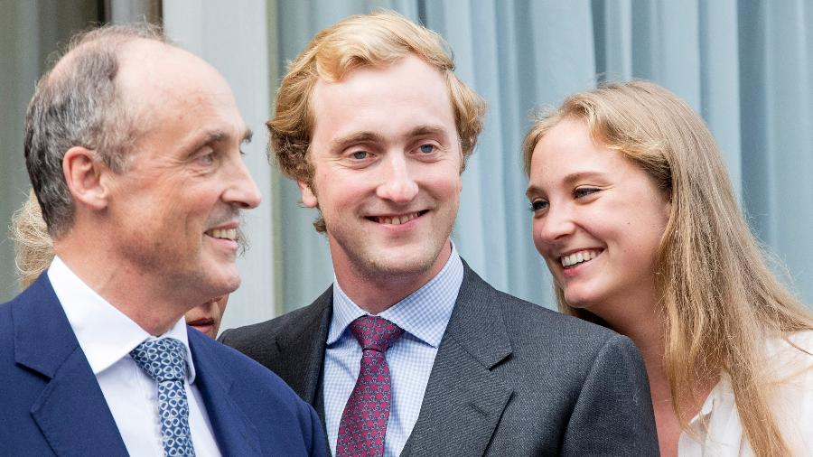 Joaquim (centro), príncipe da Bélgica - Patrick van Katwijk/Getty Images