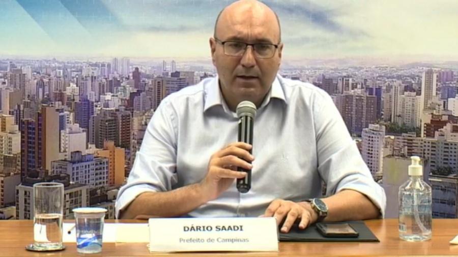 Dário Saadi, prefeito de Campinas (SP), anuncia medidas de restrição para conter transmissão do novo coronavírus - Reprodução/Facebook/Dário Saadi