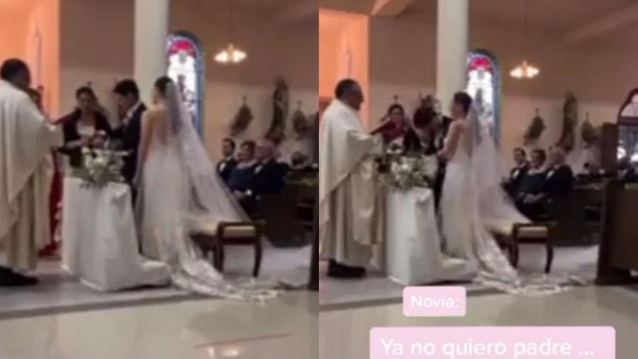 """Durante casamento, noivo confundiu os votos e disse que seria """"infiel"""" - Reprodução/TikTok"""