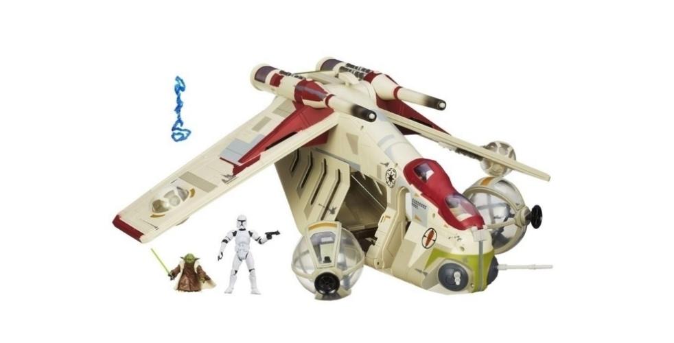 Nave Republic Gunship Hasbro Star Wars, à venda por R$ 1.199,99 no site da Ri Happy