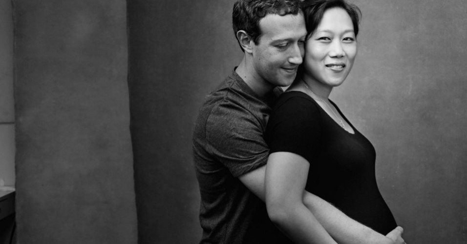 """4.nov.2015 - O cofundador do Facebook, Mark Zuckerberg, usa a rede social para fazer uma declaração de amor para a mulher, Priscila: """"Eu amo sua expressão: intensa ainda amável, feroz ainda amorosa, conduzindo e ainda sempre apoio os outros"""""""