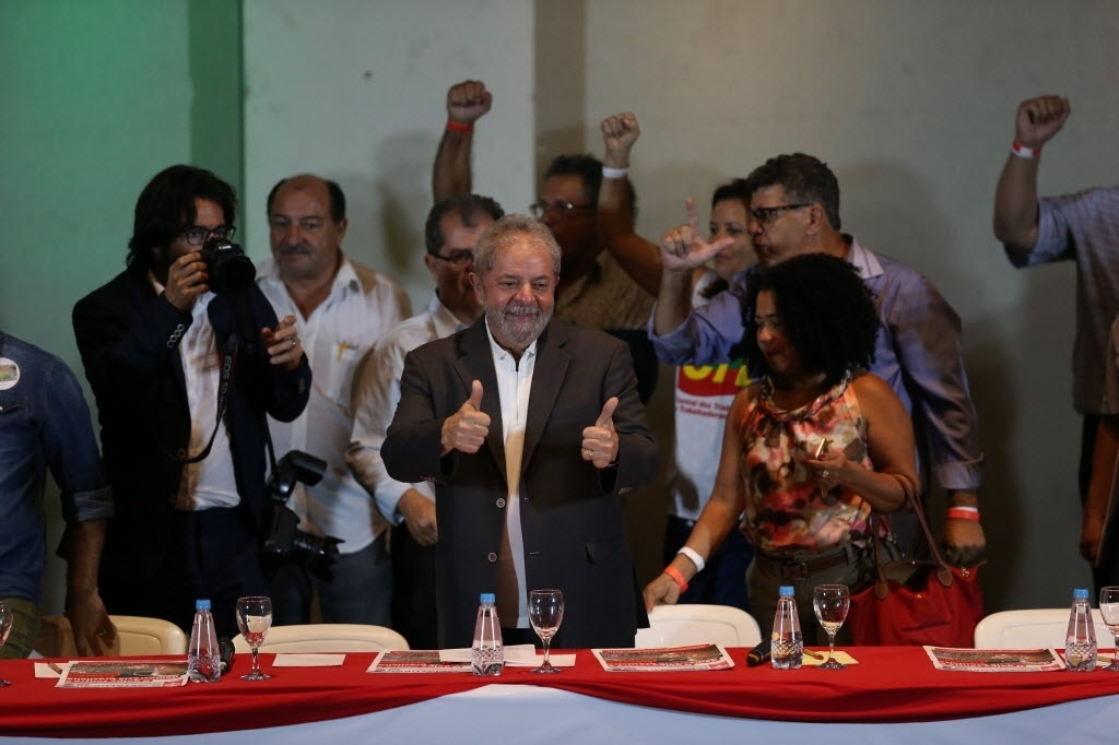Ex-presidente Luiz Inácio Lula da Silva participa de evento com sindicalistas em São Paulo