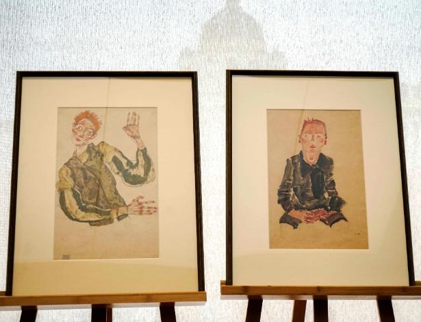 Duas das obras do pintor austríaco Egon Schiele que foram roubadas durante o regime nazista e serão devolvidas