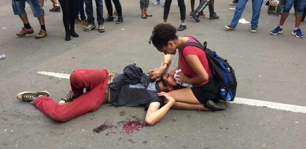 Mateus Ferreira da Silva, 32, foi atingido na cabeça durante ato em Goiânia - Desneutralizador/Facebook