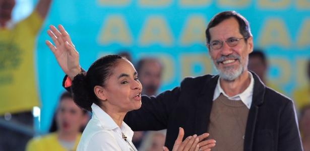 A Rede, partido de Marina Silva, avalia uma fusão com o PV, de Eduardo Jorge.