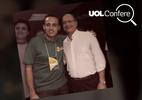 Material com foto de Alckmin e suposto líder do PCC é enganoso (Foto: Arte/UOL)