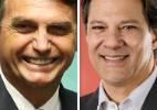 Boca de urna: Bolsonaro tem 45% dos votos válidos e Haddad, 28%, diz Ibope (Foto: Arte/UOL)