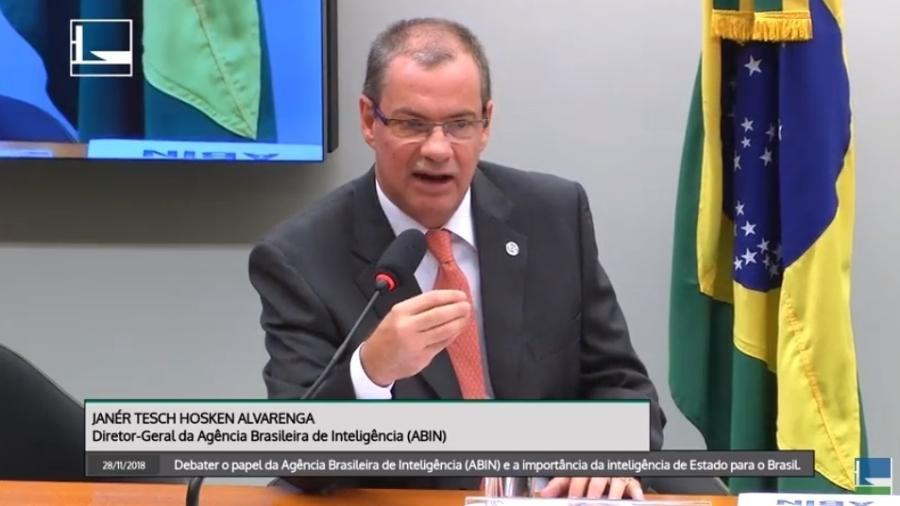 28.nov.2018 - Janér Tesch Hosken Alvarenga, diretor-geral da Abin - Reprodução/Câmara dos Deputados