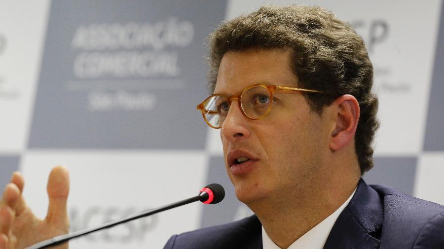 26.ago.2019 - O ministro do Meio Ambiente, Ricardo Salles - Nelson Antoine/Estadão Conteúdo