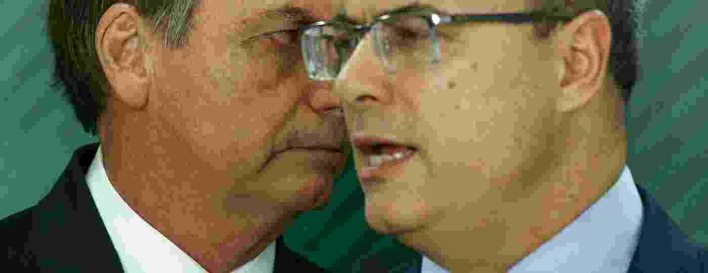 Bolsonaro e Witzel: cada vez mais distantes - Pedro Ladeira/Folhapress