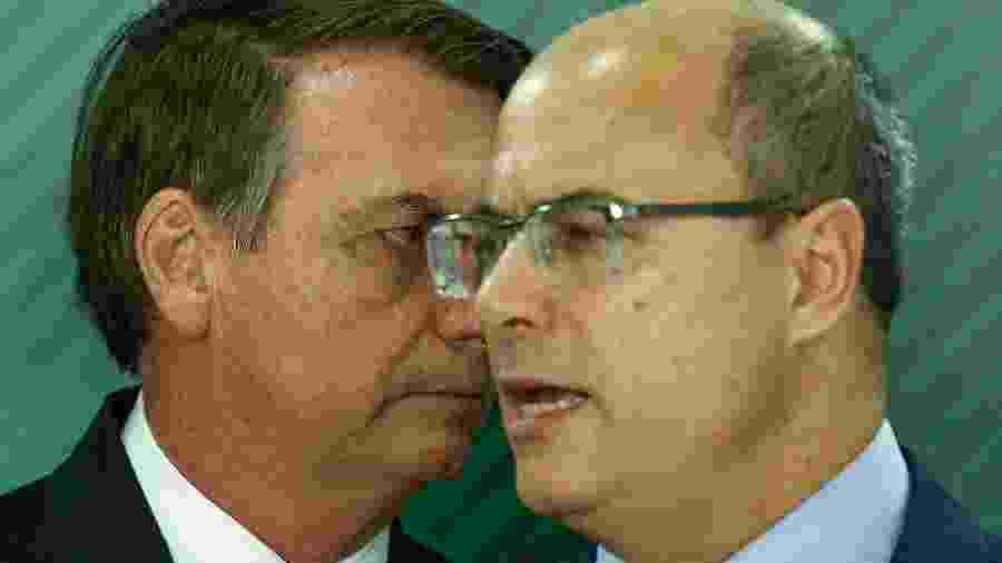 O presidente Jair Bolsonaro e o governador do RJ Wilson Witzel - Pedro Ladeira/Folhapress