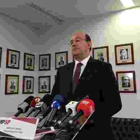O procurador-geral de Justiça, Gianpaolo Smanio, durante entrevista coletiva sobre as mortes em Paraisópolis - Luis Adorno/UOL