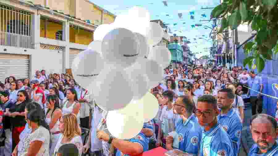 Moradores de Paraisópolis participam de ato em homenagem às nove vitimas mortas no último domingo -  JOSE BARBOSA/FUTURA PRESS