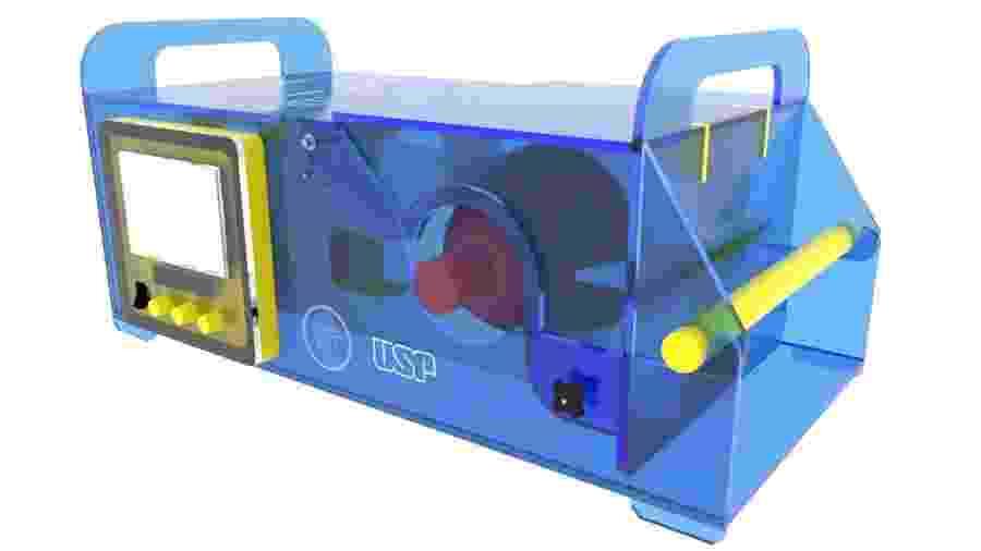 Protótipo do respirador Inspire, desenvolvido pela Poli-USP - Divulgação