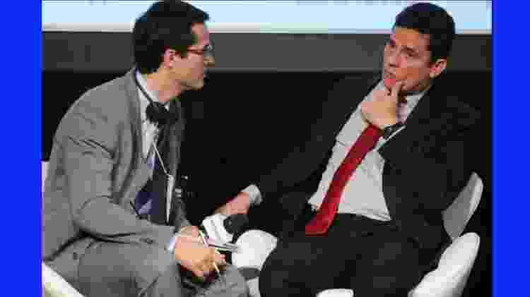 O procurador Deltan Dallagnol, que deixou o comando da Lava Jato, e o então juiz Sergio Moro  - Jorge Araújo/Folhapress - Jorge Araújo/Folhapress