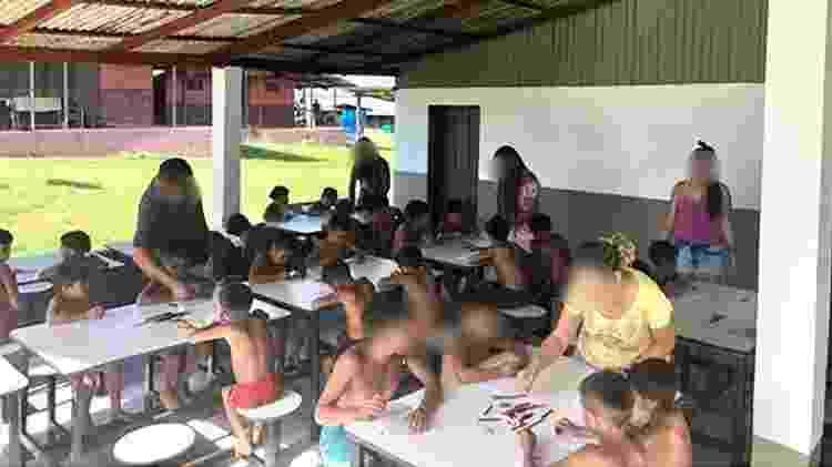 Atividade aglomera crianças indígenas sem máscara e participantes de ação na Terra Indígena Yanomami - Reprodução/Instagram - Reprodução/Instagram