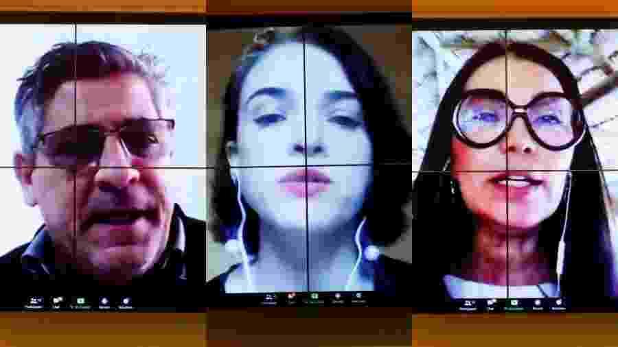 Deputado Nereu Crispim (PSL-RS), Juliana Nolasco (Google) e deputada Margarete Coelho (PP-PI) em debate sobre fake news - Gustavo Sales/Câmara dos Deputados