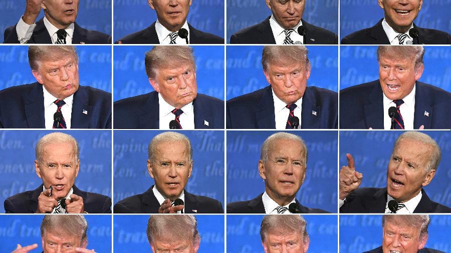Joe Biden ou Donald Trump: um dos dois comandará os Estados Unidos - Saul LOEB e Jim WATSON / AFP