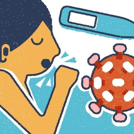 Participantes do Enem digital que estão com sintomas de covid-19 ou outra doença infectocontagiosa e já estão com laudo médico podem solicitar a reaplicação do exame até sábado - Arte/UOL