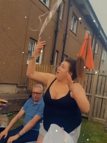 Nikki Walker perdeu seu dinheiro quando balão flutuou para longe - Reprodução
