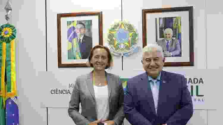 22.jul.2021 - Encontro da deputada alemã de extrema-direita Beatrix Von Storch com o ministro Marcos Pontes - Neila Rocha/ASCOM/SEAPC/MCTI - Neila Rocha/ASCOM/SEAPC/MCTI