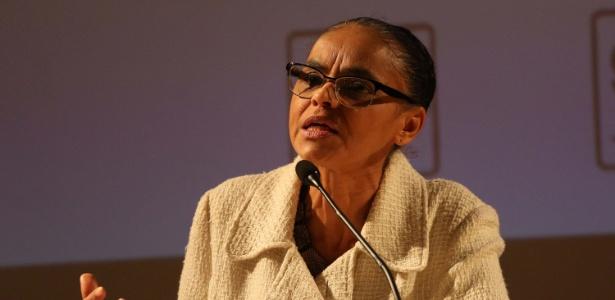 A ex-senadora e ex-ministra Marina Silva, líder do Rede Sustentabilidade