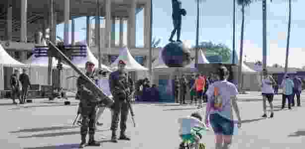 Militares fazem treinamento do esquema de segurança na cidade para os Jogos Olímpicos Rio 2016 - Nilson Soares/Futura Press/Estadão Conteúdo