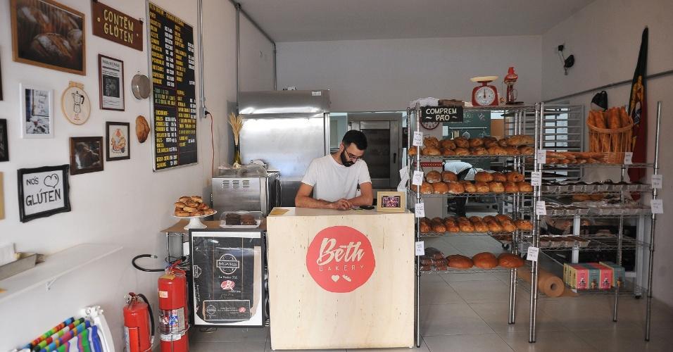 Beth Bakery, na Vila Mariana, na zona sul de São Paulo, produz pães, bolos e cookies caseiros
