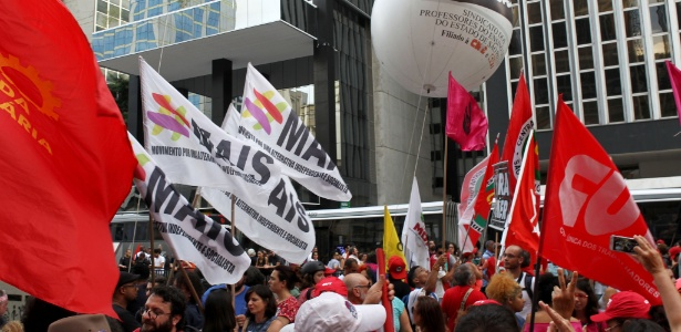 Manifestantes se reúnem em São Paulo para protesto contra PEC - Masao Goto Filho/Estadão Conteúdo