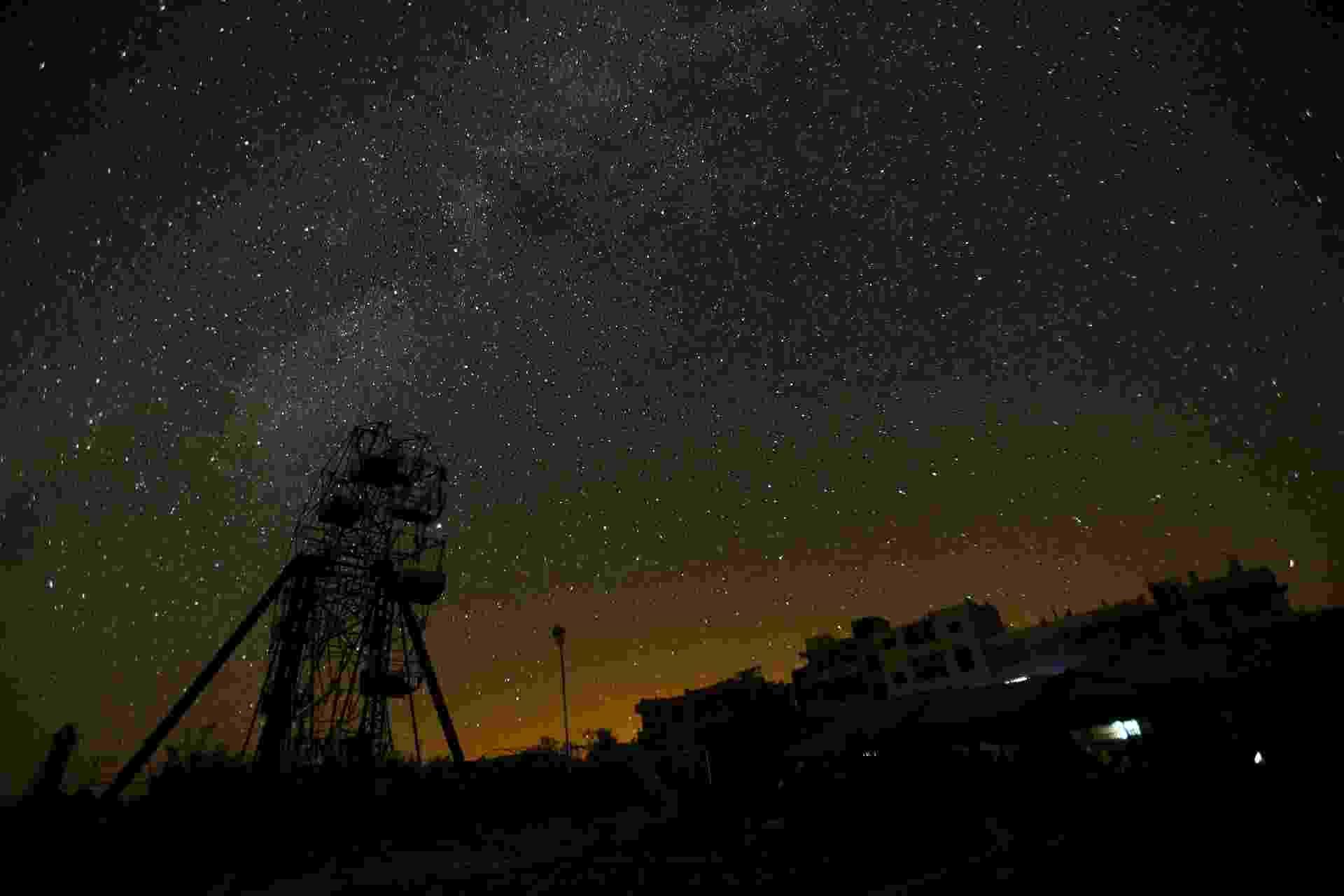 Céu estrelado em Idlib, na Síria - Ammar Abdullah/Reuters