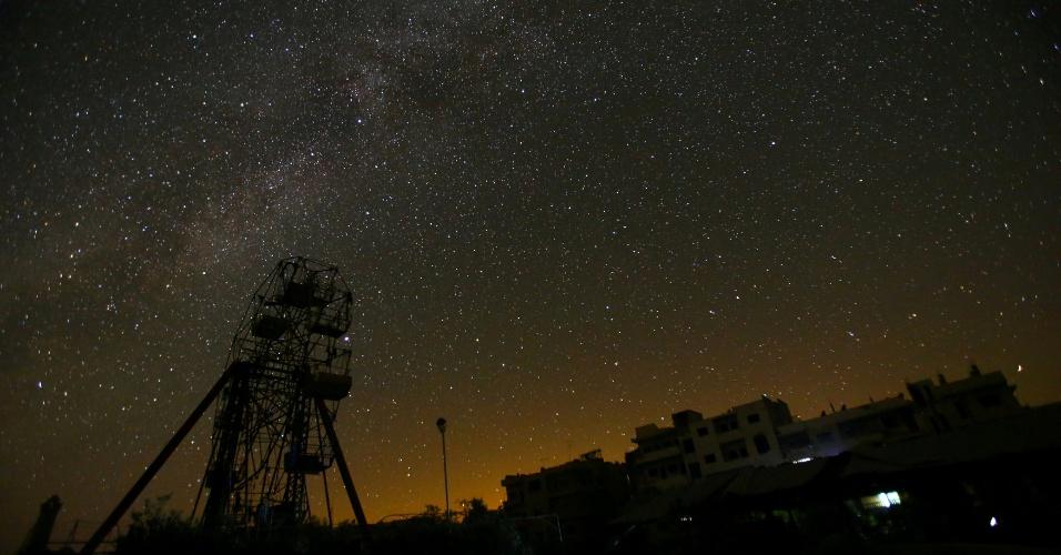 Céu estrelado em Idlib, na Síria