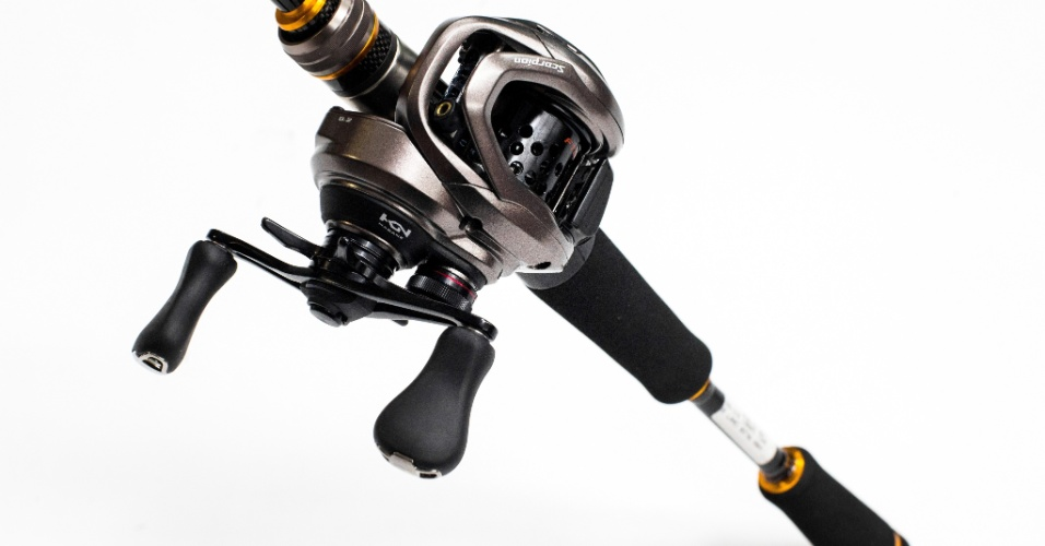 Vara de carbono Major Craft Benkei e carretilha Shimano Scorpion BFS
