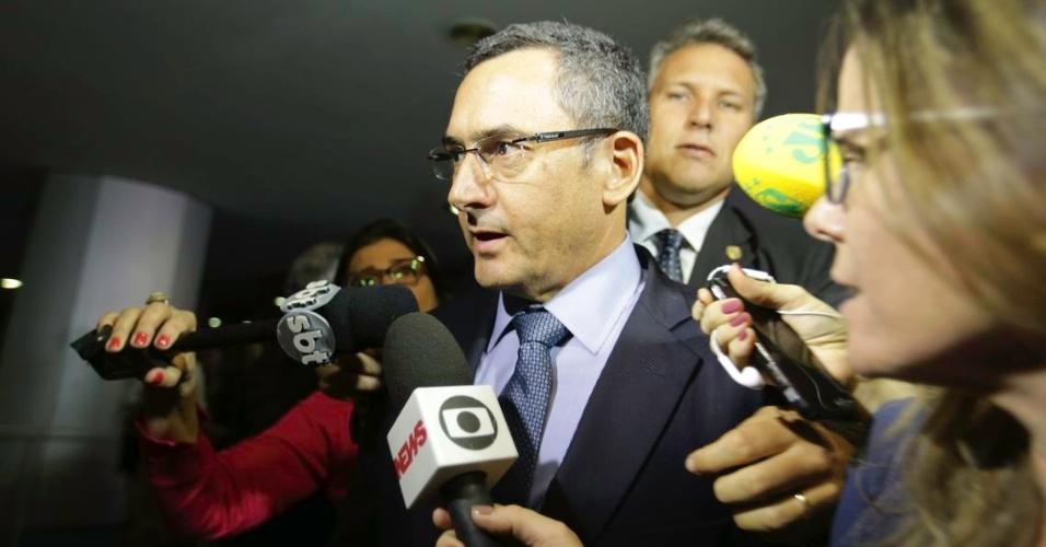 Ministro da Fazenda, Eduardo Guardia, após reunião com os presidentes da Câmara dos Deputados e do Senado Federal