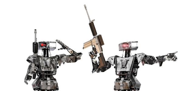A mobilização é para que robôs como os dessa da foto não venham a existir