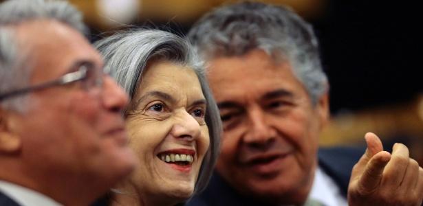 Cármen Lúcia e Marco Aurélio Mello participam de evento - Jorge William -13.ago.2018/Agência O Globo