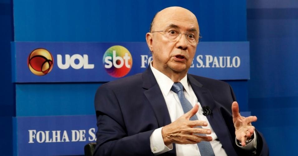 Henrique Meirelles é sabatinado por UOL, Folha e SBT