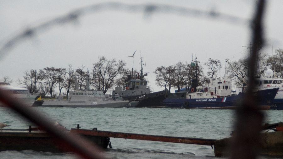 Os navios ucranianos capturados pela Rússia - Reuters