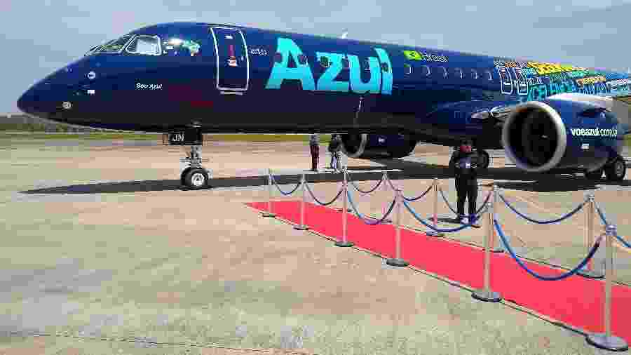 Azul recebeu o 1º Embraer E195-E2 em setembro - Vinícius Casagrande/UOL