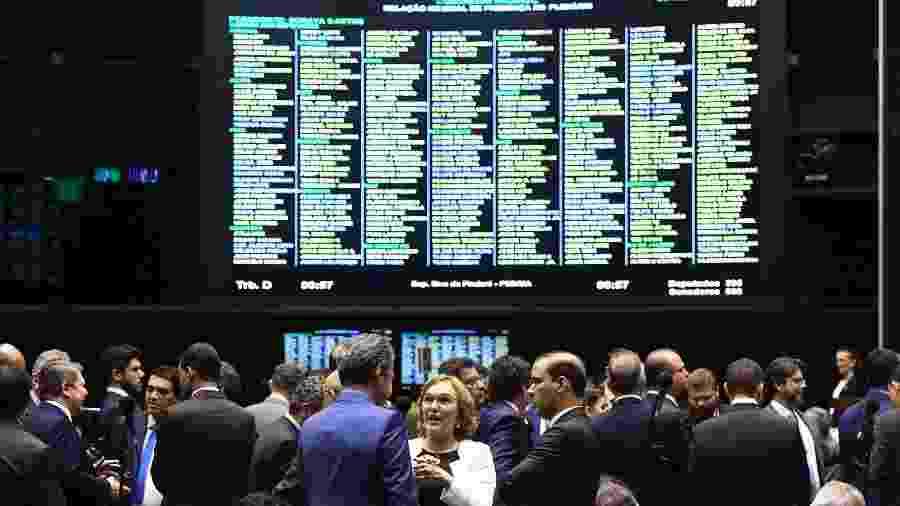 Plenário da Câmara dos Deputados durante sessão conjunta do Congresso Nacional - Marcos Oliveira/Agência Senado