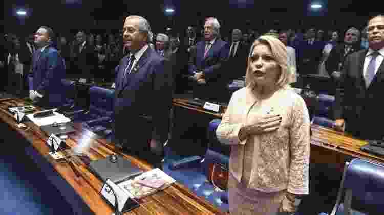 Senadora do PSL foi titular da 7ª Vara Criminal do Tribunal de Justiça de Mato Grosso (TJMT), quando ganhou apelido de 'Moro de Saias' - Jefferson Rudy/Agência Senado - Jefferson Rudy/Agência Senado